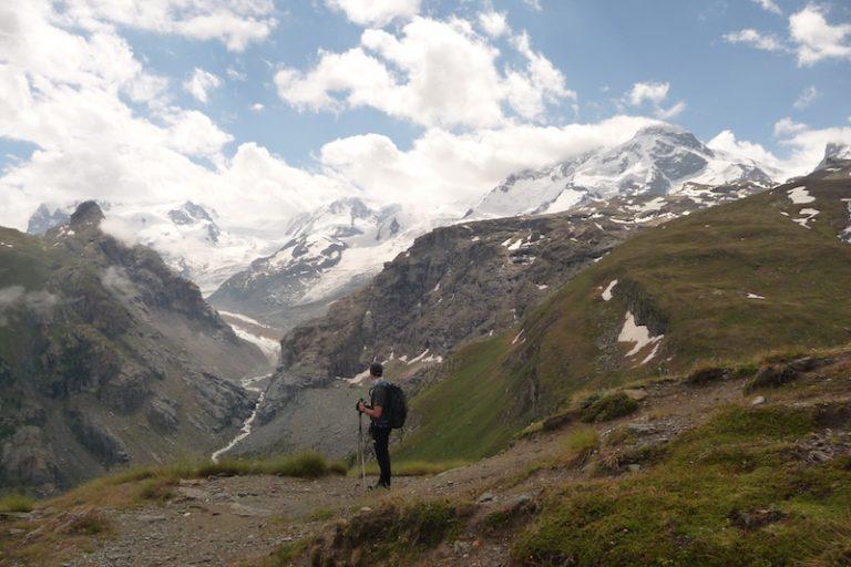 trekking en los alpes